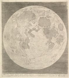 Claude Mellan (French. 1598-1688). Full Moon, 1635. Engraving. The Metropolitan Museum of Art, New York. Purchase, The Elisha Whittelsey Collection, The Elisha Whittelsey Fund, 1960 (60.634.36). #CosmicWonders #MetonPaper100