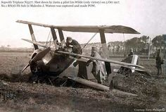Crashed Sopwith Triplane