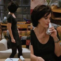 Resultado de imagem para rachel friends roupas Monica Hairstyles, Hairstyles Haircuts, Cool Hairstyles, Courtney Cox Hair, Estilo Rachel Green, Monica Gellar, Androgynous Hair, Shot Hair Styles, Hair Affair