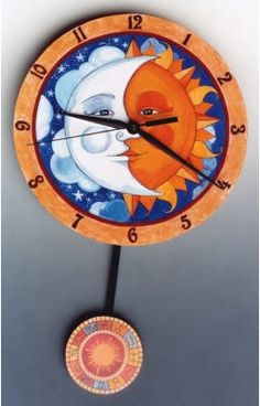 Celestial Sun and Moon Wall Clock For the Home Pinterest