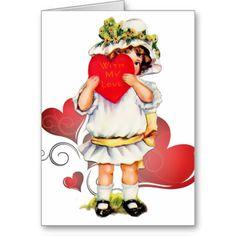 Vintage Valentine Babydoll & Red Hearts - Card 2