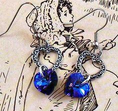 Heliotrope Open Heart Earrings Valentine by RoseCottageVintage, $19.99