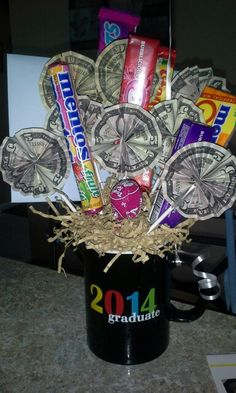 Money bouquet--I made this for my cousins high school graduation!