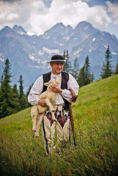 Shepherd from Rusinowa Polana - Tatra Mountains, Poland Polish Mountains, Polish Folk Art, Tatra Mountains, Plitvice Lakes National Park, Poland Travel, Thinking Day, Historical Pictures, My Heritage, Krakow