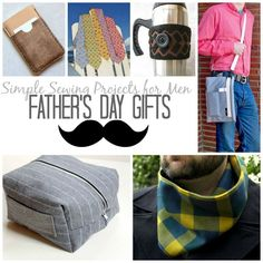 17 Simple Sewing Projects for Men: Father's Day Gifts   AllFreeSewing.com