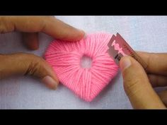 DIY,Heart shape pompom,Gift idea,love pompom tutorial,Crafts & Embroidery Source by enis day crafts for kids easy Yarn Crafts For Kids, Dyi Crafts, Bunny Crafts, Flower Crafts, Heart Diy, Heart Crafts, Diy Yarn Orbs, Easy Valentine Crafts, How To Make A Pom Pom