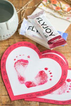 Valentine's Day Footprint Craft