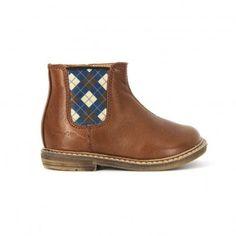 Boots Cuir Retro Jodzip Marron  Pom d'Api