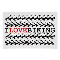 I love biking poster