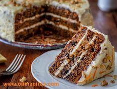TARTA DE ZANAHORIA ESTILO AMERICANO Dessert Recipes, Desserts, Carrot Cake, Flan, Cupcake Cakes, Catering, Cravings, Carrots, Bakery