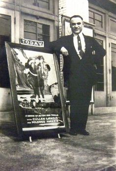 Uncle Johnny Goldberg maybe with 1924 film poster for One Law for the Woman | by reel3d1