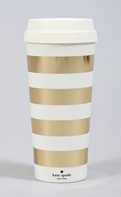 Kate Spade gold thermal coffee mug! free shipping and 20% off on shopriffraff.com!