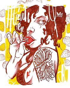 A T R É V E T E • T E #atrevete #calle13 #art #latinoamericano #brasil #riodejaneiro #morango #powertowomen #felipeCarvalho #art #illustration #ilpe #Nrvo