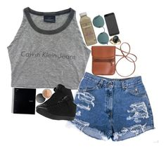 """""""Untitled #2355"""" by sisistyle ❤ liked on Polyvore featuring Converse, Bare Escentuals and Ray-Ban"""