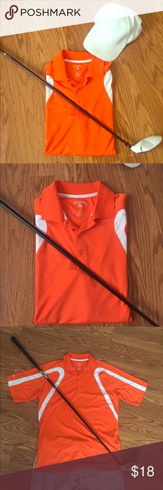 ANTIGUA Orange POLO GOlf SHIRT ORANGE GOLF SHIRT barely used all in great condition perfect for great Outfit on a great day to golf ❤️ Antigua Shirts Polos