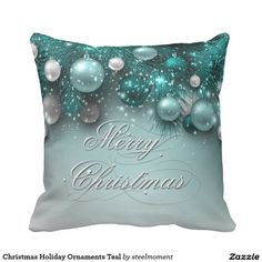 Christmas Holiday Ornaments Teal