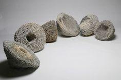 """Phyllis Kudder Sullivan, Vortices, 2005-2007, stoneware, 18""""h x 42"""" x 73"""""""