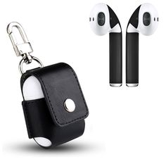 AirPod Skins and Leather Protective Charging Case Cover – Custom Wraps and Case Bundle (Black Case & Matte Black Skins). ✔ STYLE AND PROTECTION - Defend both your Apple AirPods and the charging case they come in from daily wear and tear, and look great doing it. ✔ COMFORT AND FUNCTION - The charger case is an ultra-lightweight slim fitting, impact resistant and absorbent silicone elastomer that allows for both a perfect fit and maximum protection. Our skins allow you to protect your…