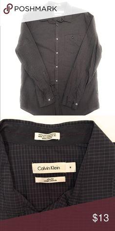 Calvin Klein Men's Slim Fit Dress Shirt, Medium Men's Long-Sleeve Slim Fit Dress Shirt  Size: Medium  Condition: Excellent Used  Material: 100% Cotton Calvin Klein Shirts Dress Shirts