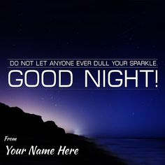 Write Your Name On Beautiful Good Night Wishes Picture