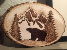 Bear in the mountains wood burn by EmilyEggers on Etsy | Inspiration. | Pinterest | The o'jays ...