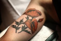 Alice Carrier is a tattoo artist at Wonderland Tattoo in beautiful Portland, Oregon. Body Art Tattoos, New Tattoos, I Tattoo, Sleeve Tattoos, Tatoos, Color Tattoos, Botanical Tattoo, Botanical Prints, Poppies Tattoo