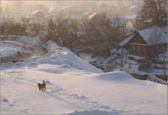 Russian village at winter