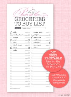 printable shopping list