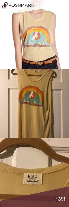 NWOT PST Free To Soar graphic tank top Brand new never worn!  🌼Thank you for looking!  🌼I ship within 2 days shipping excluding holidays 🌼I do not trade! 🌼I only accept offers through the offer button! 🌼Thank you for shopping and feel free to ask any questions! 🚭Smoke free home! Project Social T Tops Tank Tops