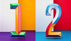 Colorful Numbers by Muokkaa Studio   Inspiration Grid   Design Inspiration