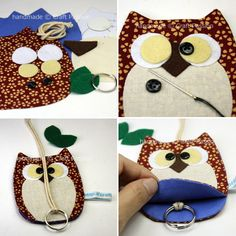 My Owl Barn: DIY: Owl Key Chain And Holder