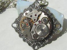Round Handmade Metal Pendant Steampunk Design Fashion Trends Gift Ideas