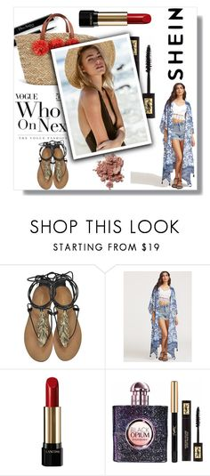 """""""Shein"""" by aurorab-i ❤ liked on Polyvore featuring Roberto Cavalli, Lancôme and Yves Saint Laurent"""
