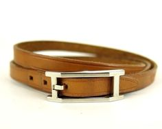 Hermes  Brown  TRIPLE WRAP BRACELET DOUBLE  CHOKER NECKLACE. Get the lowest price on Hermes  Brown  TRIPLE WRAP BRACELET DOUBLE  CHOKER NECKLACE and other fabulous designer clothing and accessories! Shop Tradesy now