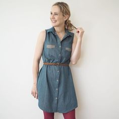 Do you ever find it hard to choose what pattern to make when there are so many different options out there for the same kind of garment? My new blog and YouTube vid out today chats you through different shirt, blouse and shirt dress patterns, how to spot the difference and narrow down your choice!  @grainlinestudio Alder dress-version 1 #guthrieghani #guthrieandghani #aldershirtdress #grainlinepatternsguthrieghaniguthrieghani