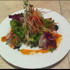 Macrobiotic fish carpaccio