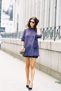 lavender and lace. #streetstyle