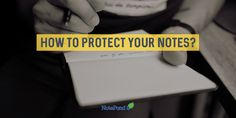You don't just put your notes anywhere you want. they need to be secured in a safe vessel like NotePond!