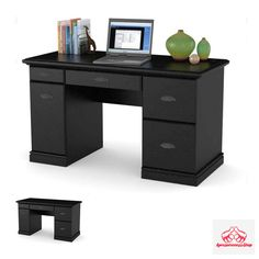 Computer Desk For Home PC Laptop Black Table Workstation Office Space Small Big  #BetterHomesandGardens #Classic