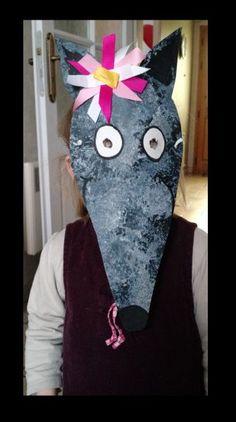masque p'tit loup louna retrouver le modèle du masque ici Ici la page Facebook des créations de Loup