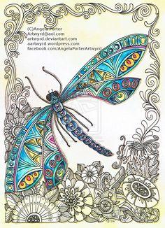 Dragonfly 31st December 2014 by Artwyrd.deviantart.com on @DeviantArt