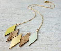 Oslo Necklace, geometric necklace, signature necklace, Scandinavian design on Etsy, $69.00