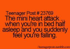 That's actually your brain waking you up because your heart rate was slowing down too fast like you were dying.