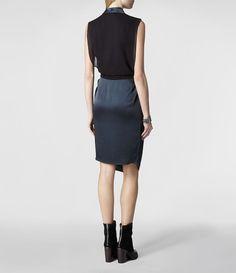 navy + black dress <3