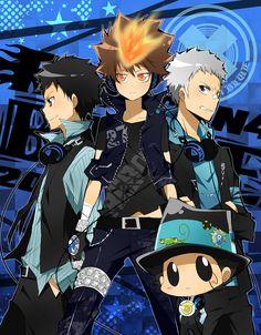 Yamamoto Takeshi & Sawada Tsunayoshi & Sasagawa Ryohei & Reborn    Katekyo Hitman Reborn!