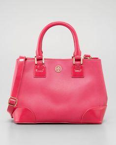 Tory Burch - Robinson Mini Square Tote Bag, Pink - http://womenspin.com/handbags/tory-burch-robinson-mini-square-tote-bag-pink/