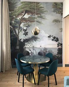 Parfait Clem Around The Corner   Blog Déco, Design Et DIY. Salle A Manger Table  Ronde Verre Chaise Bleu Canard ...