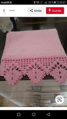 Crochet Boarders, Crochet Edging Patterns, Crochet Lace Edging, Granny Square Crochet Pattern, Crochet Diagram, Crochet Designs, Crochet Doilies, Crochet Flowers, Crochet Table Topper