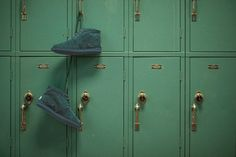 shoes, deep green, lockers, back to school