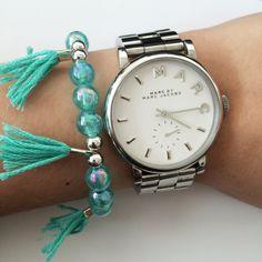Fringe bracelet by Angélica - Turquoise